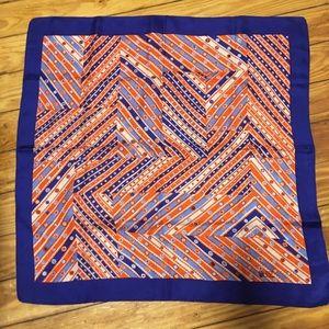 Liberty London Blue Red Silk Scarf